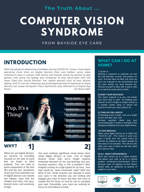 The Truth About Computer Vision Syndrome ... and Some Tips You Can Do At Home!