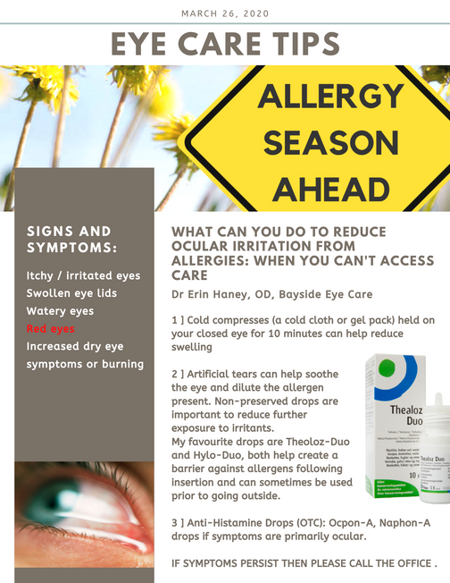 In the Midst of COVID-19 and Limited Access to Care: What Can you do if You Have Allergies?