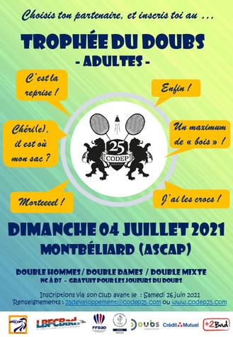 Trophée du Doubs ! Le 4 Juillet à Montbéliard