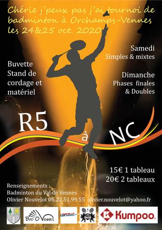 6e TOURNOI VAL DE VENNES, 24-25 oct 2020