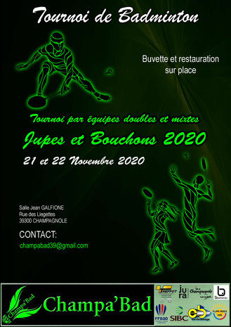 JUPES ET BOUCHONS ! Week-end du 21 et 22 Nov 2020 à Champagnole
