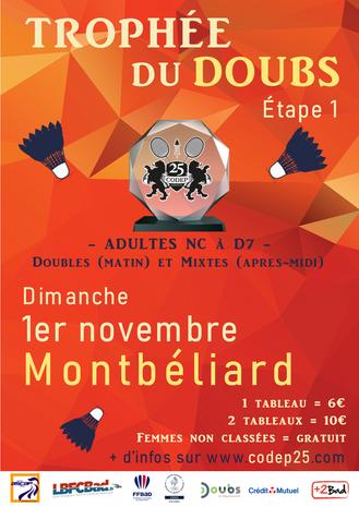 TROPHÉE DU DOUBS 1 ! Dimanche 1er Nov 2020 à Montbéliard.