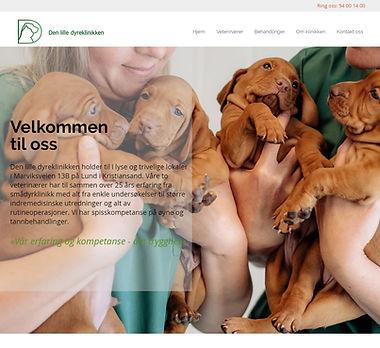 denlilledyreklinikken.no nettside laget av respirare.no av Fredrik Nordland.jpg