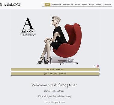 A-Salong.no hjemmeside laget av Respirare.no av Fredrik Nordland.jpg