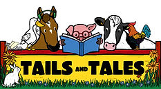 Tails and tales Summer Reading Program logo.