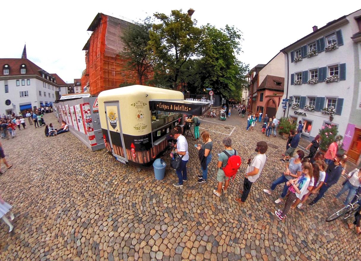 Crêpe Mobile Foodtruck bei der Museumsnacht, Freiburg, 2018