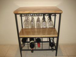 Wine & Glass Rack 10 Bottle with Timber