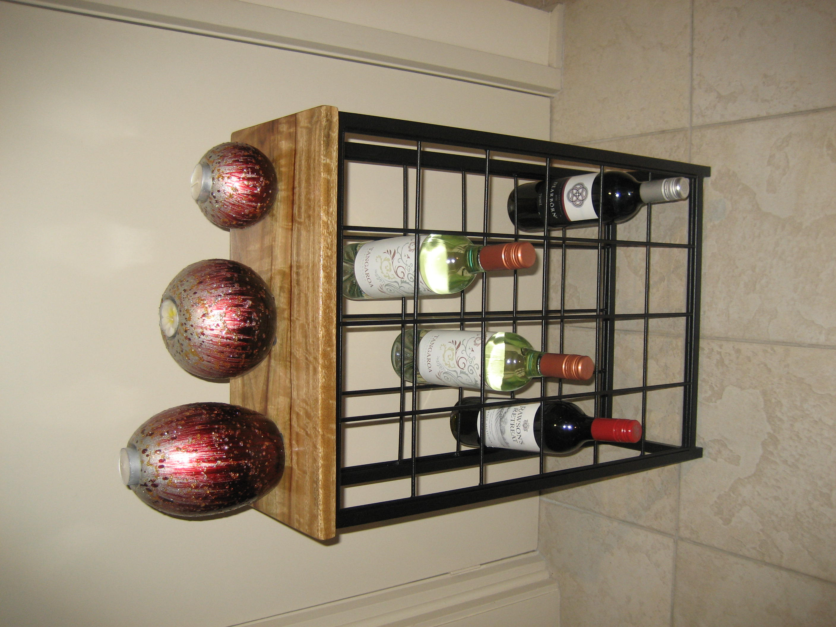 Wine Rack 24 Bottle Timber Top