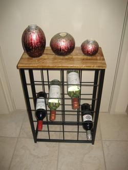Wine Rack 24 Bottle Timber Top
