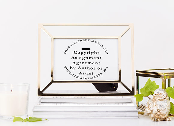 Assignment of Copyright by Author or Artist Agreement