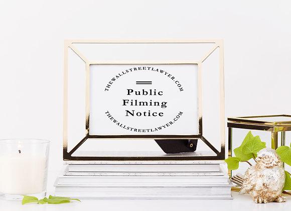 Public Filming Notice