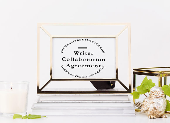 Writer Collaboration Agreement
