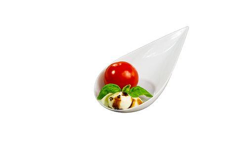 White Teardrop Spoons