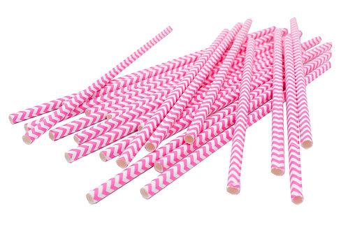 Pink Swirly Straws
