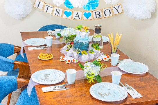Baby Boy Table Setting
