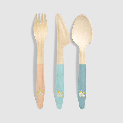 Garden Party Wood Utensils