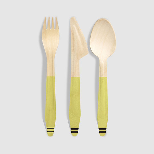 Busy Bumblebee Wooden Utensils