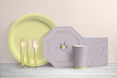 Busy Bumblebee - Yellow and Mauve