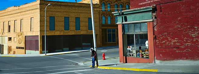 Wenders_Corner with Cowboy - Butte, Mont