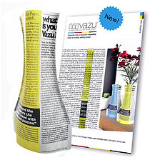 VAZU Mgazine Yellow (paper vase) vassu design