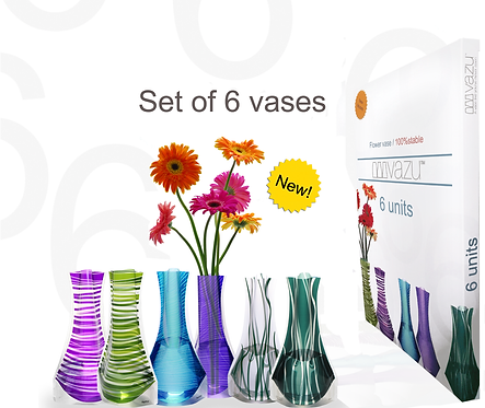 Set of 6 vases