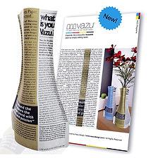 VAZU Mgazine Gold (paper vase) vazu design