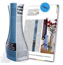 VAZU Magazine Blue (paper vase)