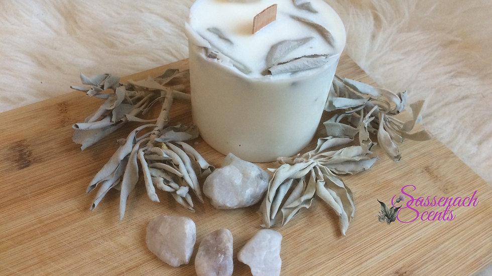 The Wild Sage & Quartz Crystal Candle