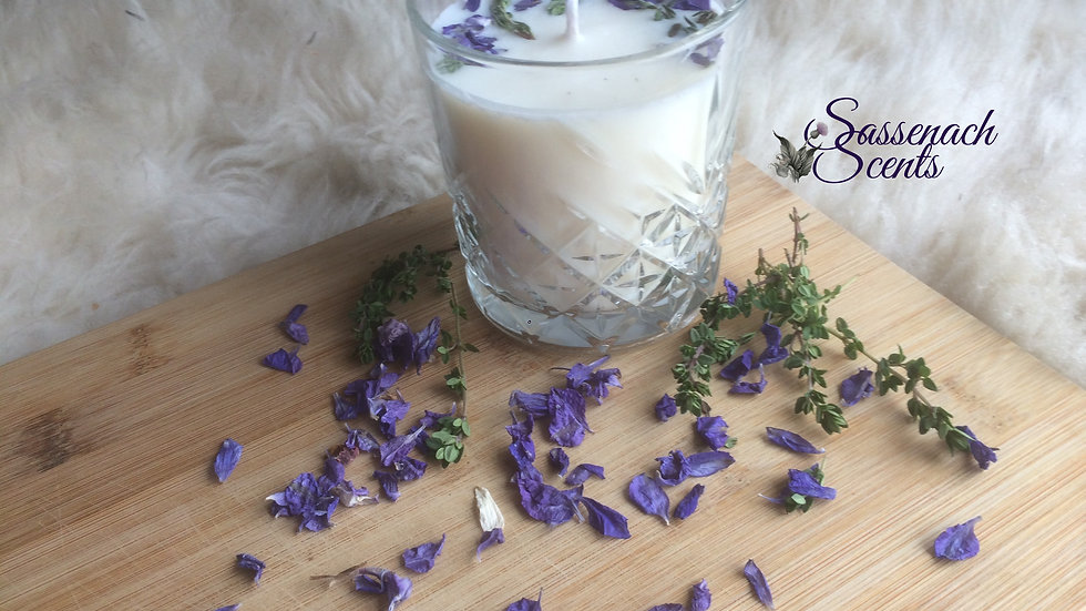 The Wild Larkspur & Thyme Candle