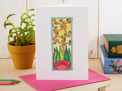 A Single Rose Flower Card