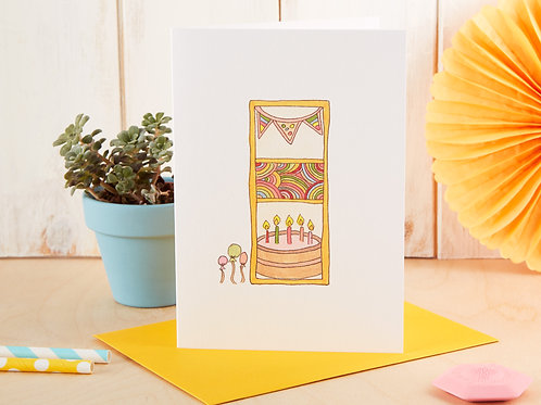 Candles & Cake Birthday Card