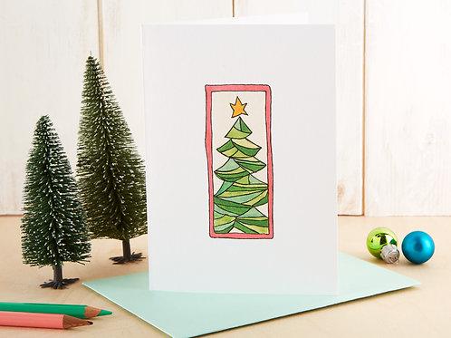 Framed Christmas Tree Card