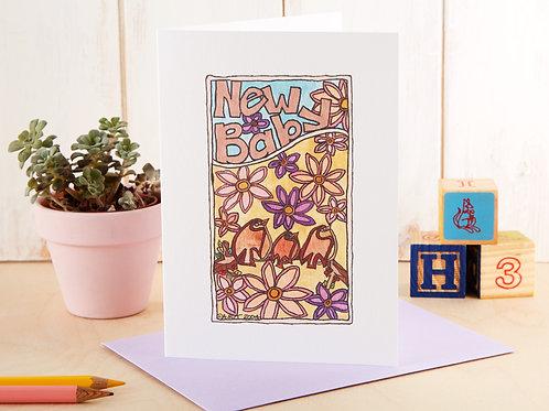 Baby Bird New Baby Card