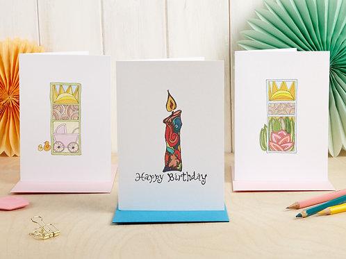 Mix and Match Set of 3 Cards