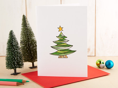 Quirky Christmas Tree Card