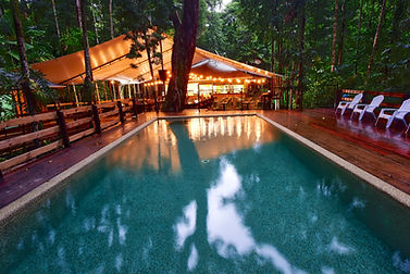 Cape Trib Beach House pool and Tides Bar & Restaurant