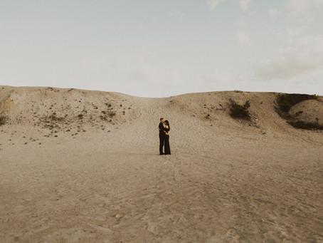 Rhode Island Sand Dunes Engagement