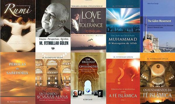 Livros de Fethullah Gülen, inspirador do Movimento Hizmet