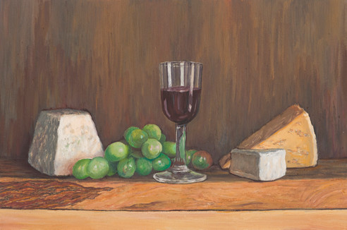 Port and cheeseboard •