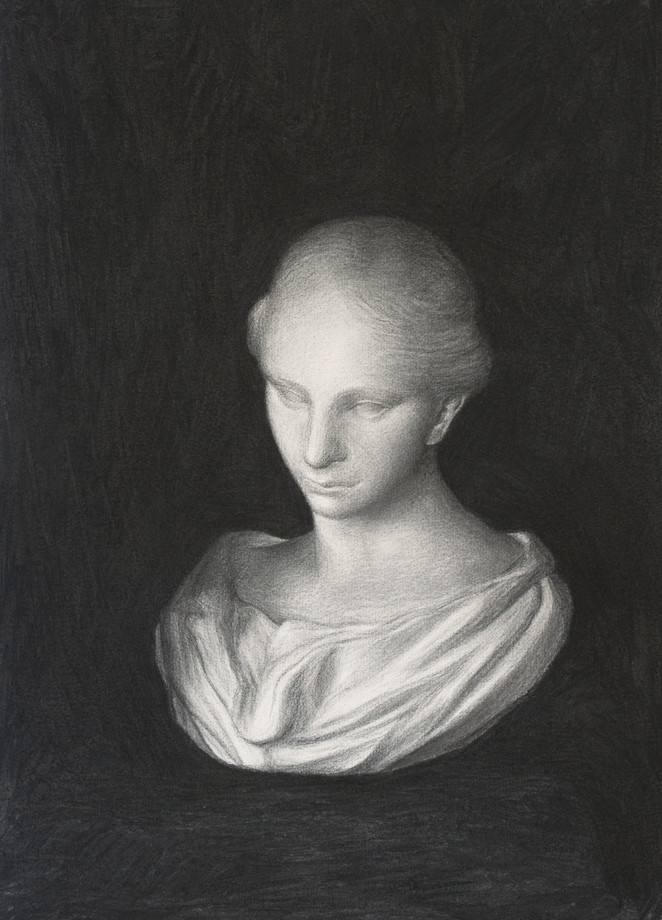 Bust of young girl