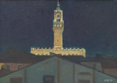 Night silhouette of Palazzo Vecchio