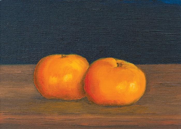 2 tangerines •