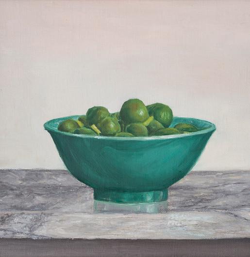 Bowl of olives •
