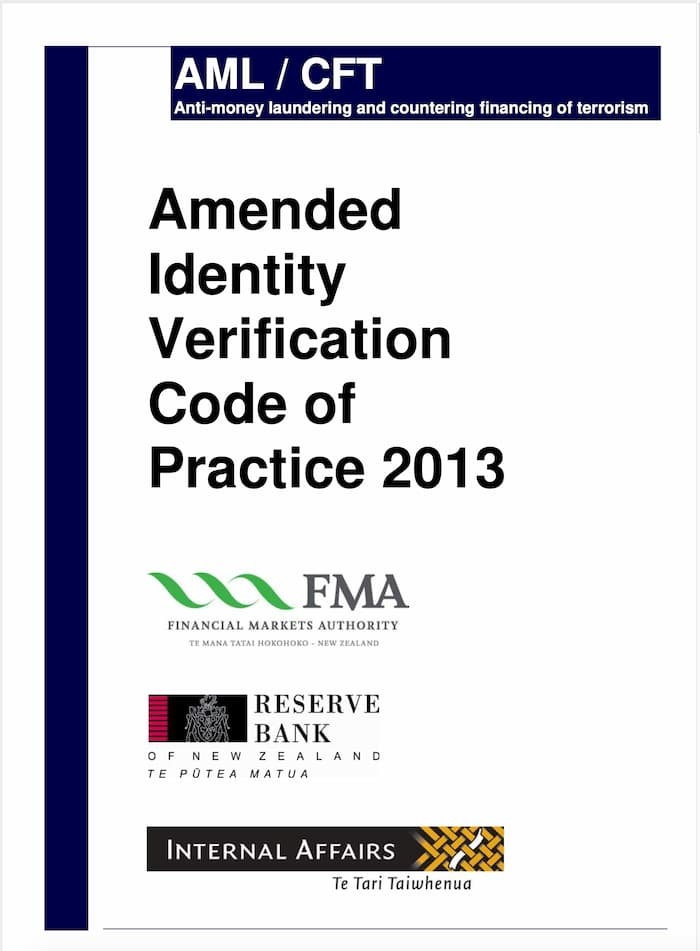 Amended Identity Verification Code of Practice (2013)