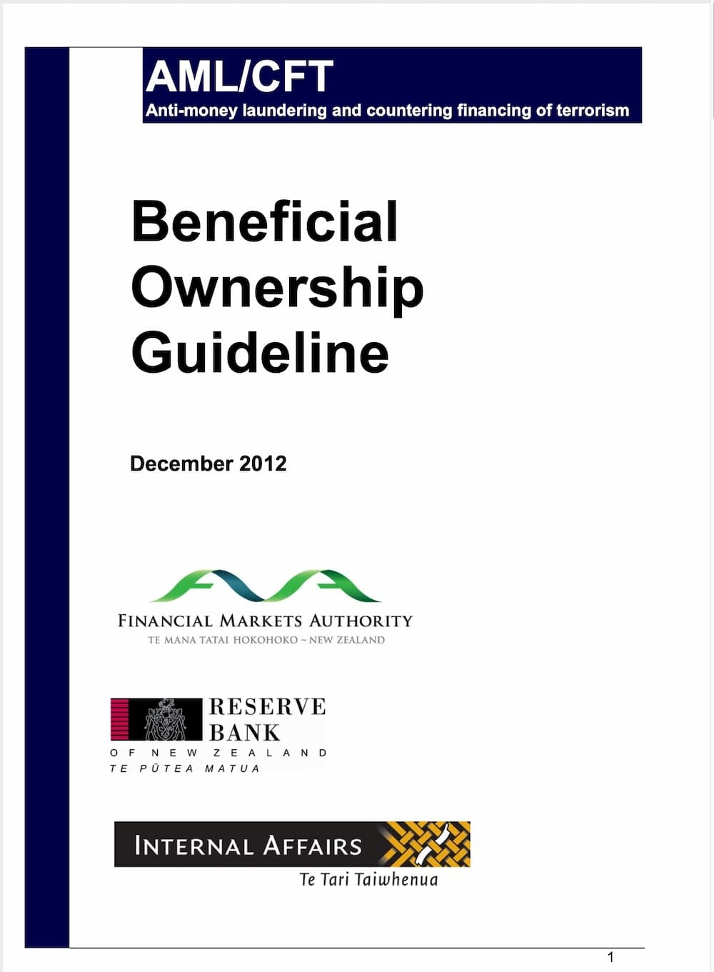 Beneficial Ownership Guideline