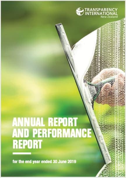 Transparency International NZ Annual Report (2018 - 2019)