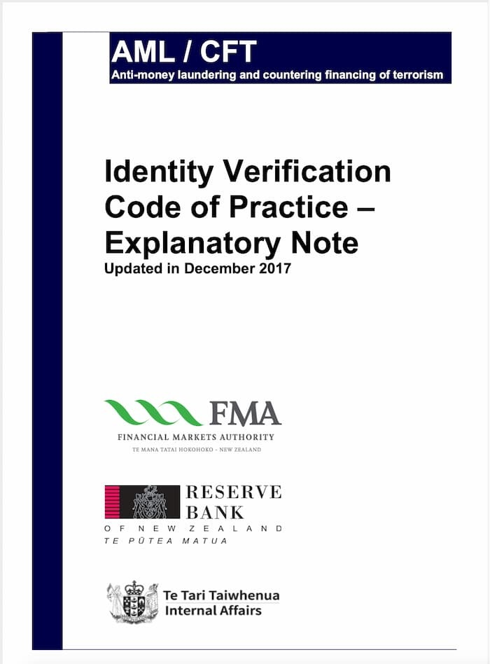 Identity Verification Code of Practice Explanatory Note (2017)