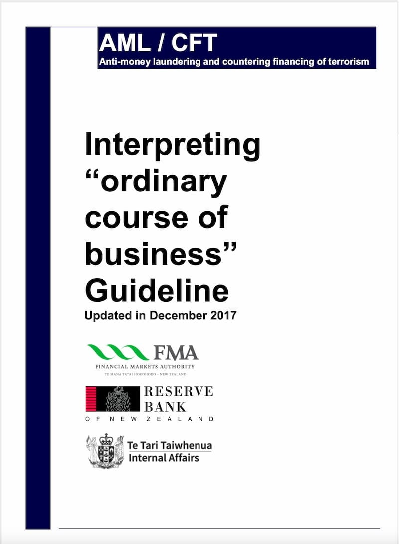 Interpreting 'Ordinary Course of Business' Guideline (2017)