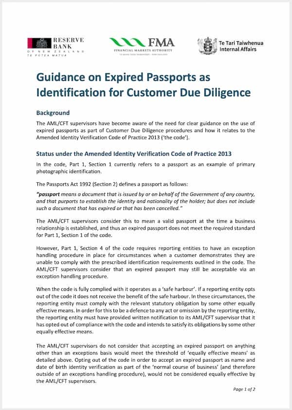 Expired Passport Fact Sheet