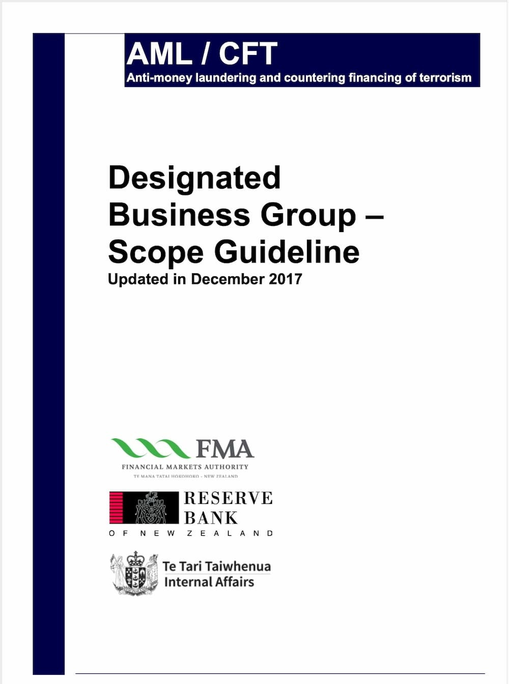 Designated Business Group Scope Guideline